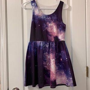 Galaxy Skater Dress
